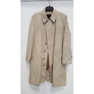 London Fog vintage trench coat faux-fur lined 40R